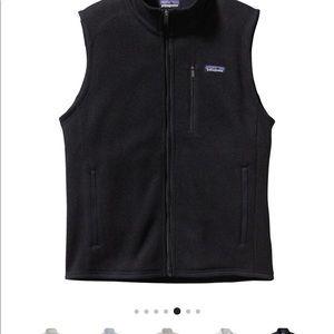 Men's Patagonia Fleece Vest- Black